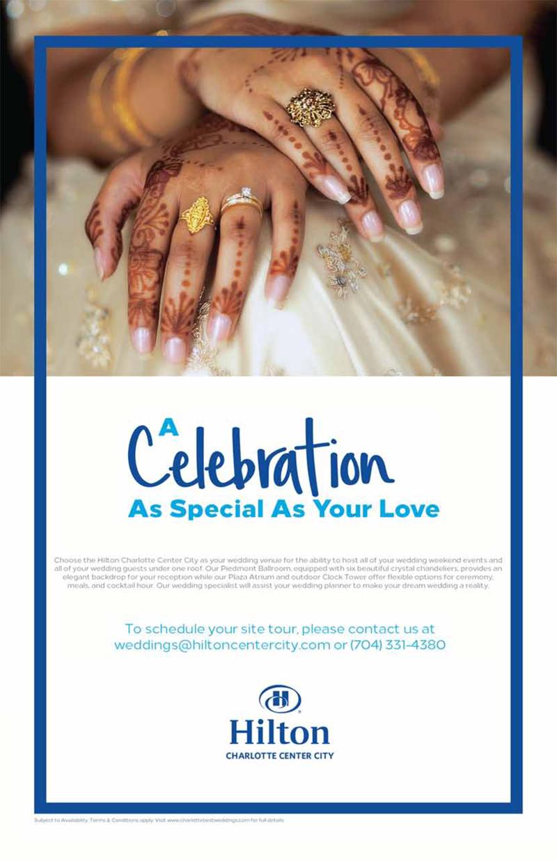 Hilton Charlotte Center city Best for Charlotte Wedding