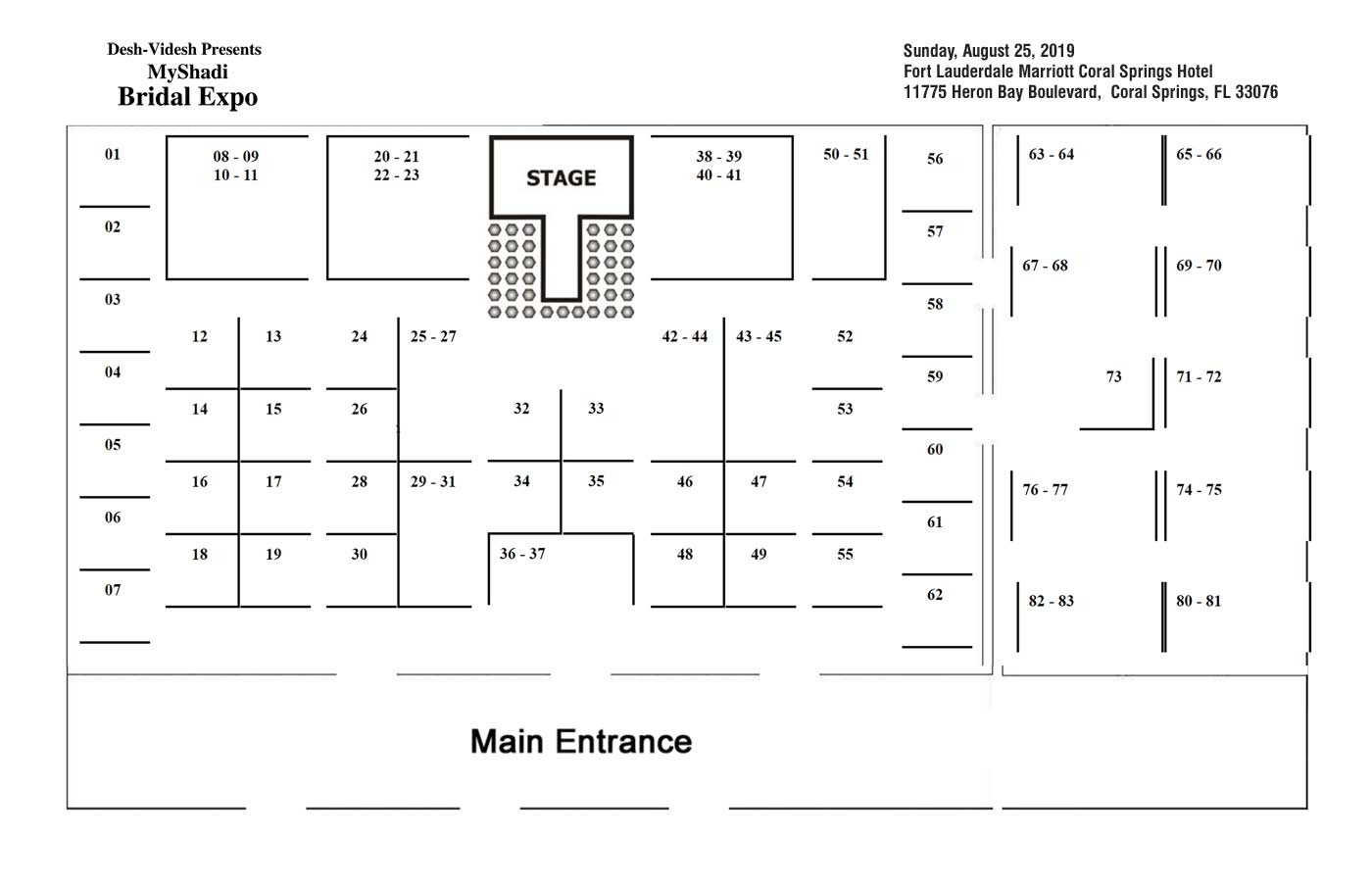 BOOTH LAYOUT Fort Lauderdale