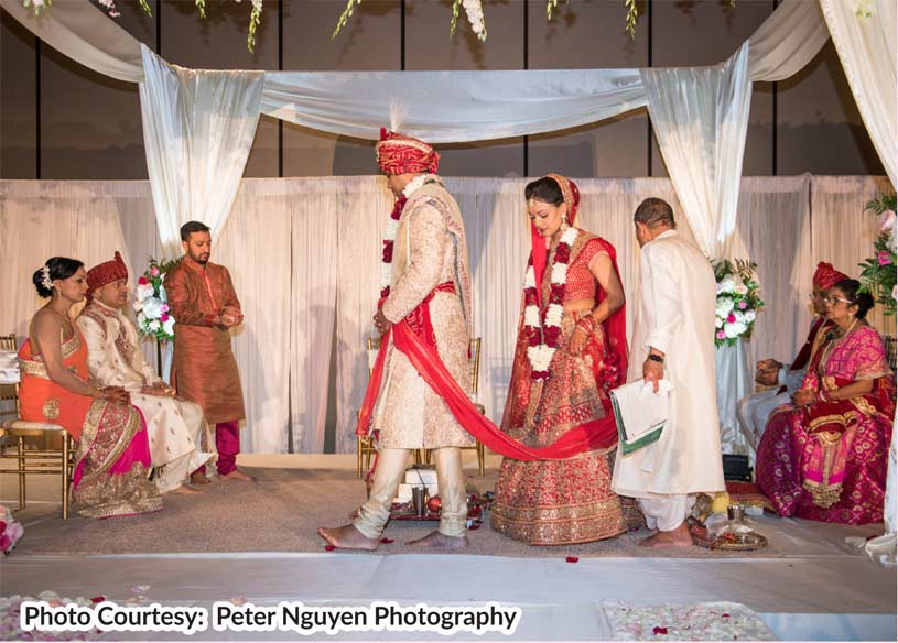 Bride show her devotion and love towards her husband.